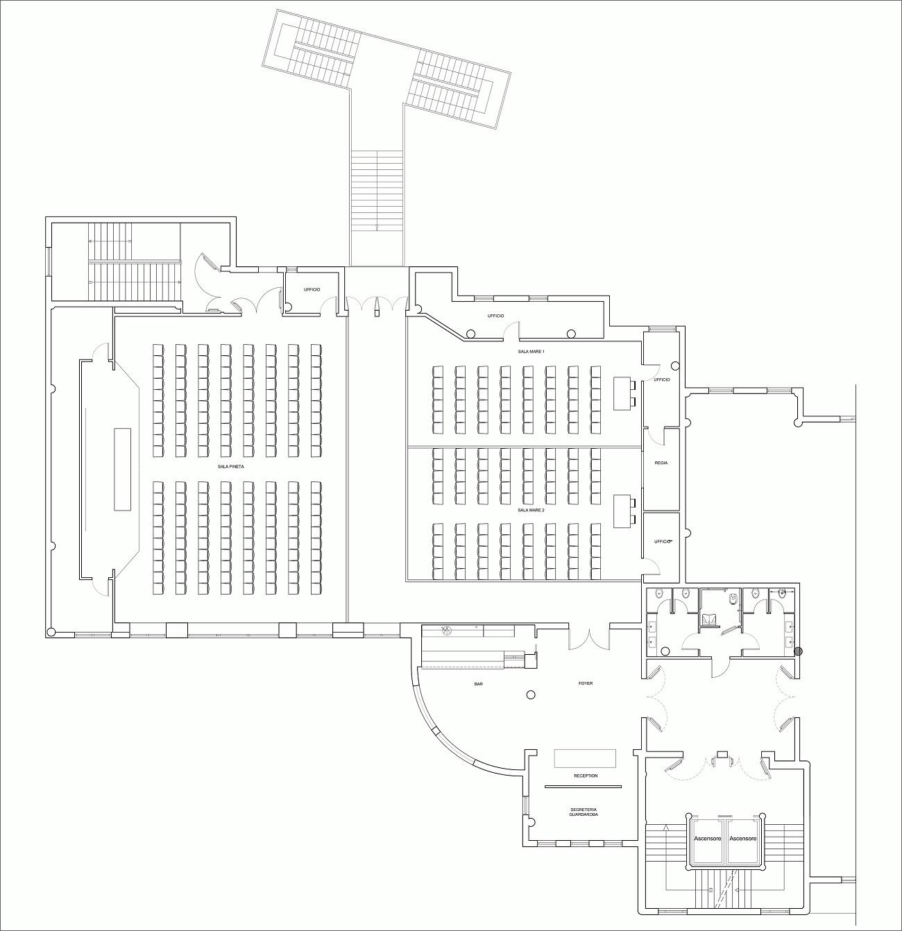 Dimensioni Sala Conferenze 100 Posti.Centro Congressi E Meeting In Abruzzo Villaggio Salinello